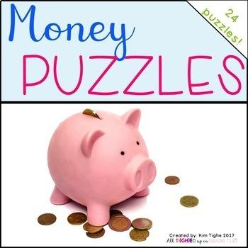 Money & Coin Puzzles {Math Center Game}