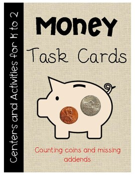 Money - Coin Task Cards (scoot)