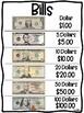 Money Identification Anchor Charts (Coins & Bills)