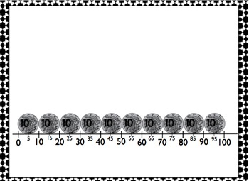 Money - Coin number line
