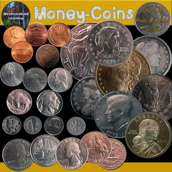 Money Coins Clip Art Photo & Artistic Digital Stickers