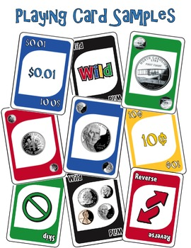 Money Math (Coins) Identification Card Game ~ like UNO