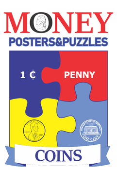 Money. Coins. B&W Posters and Puzzles