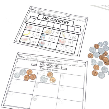 Money & Coins Word Problems & Counting  2.MD.C.8 Common Core Math 2nd Gr