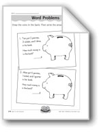 Money/Coins Word Problems (pennies, nickels, dimes, quarters)