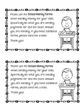 Back to School Money Collection Form English-Spanish-Creole