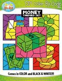 Money Color By Code Clipart {Zip-A-Dee-Doo-Dah Designs}
