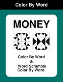 Money - Color By Word & Color By Word Scramble Worksheets