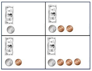Money:Coin & Bill Combination Flashcards