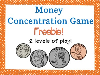 Money Concentration Games {FREEBIE!}