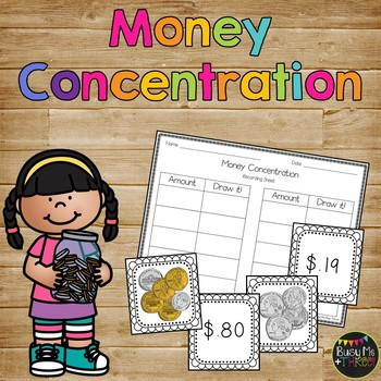Money Concentration up to $1.00 for First and Second Grade, Memory