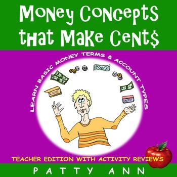 Money Concepts that Make Cent$: Money Term$ & Account Types = Apply Math Skills!