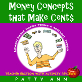 Money Concepts that Make Cent$: Money Term$ & Account Types = Apply Math Skills!