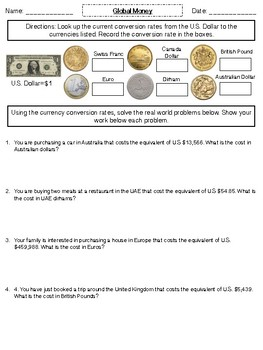 Money: Converting Currencies
