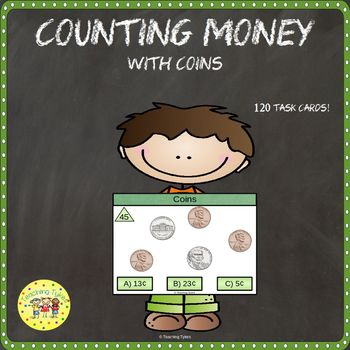 Money Coins Clip Task Cards