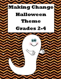 Money-Counting Change-Halloween Hunt-Write the Room-Grades 2-4-Station Activity