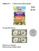 Money-Counting Change-Super Market Safari Hunt-Station Activity -Grades 2-4