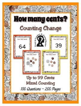 Money ~ Counting Change up to 99 Cents  e-book reader - Coin Counting