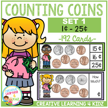 Money Counting Coins Card Set 1