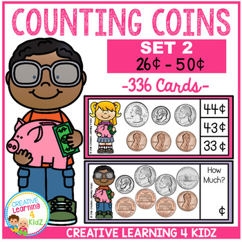 Money Counting Coins Card Set 2