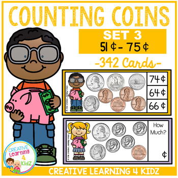 Money Counting Coins Card Set 3