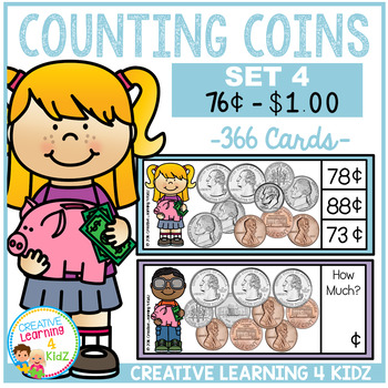 Money Counting Coins Card Set 4