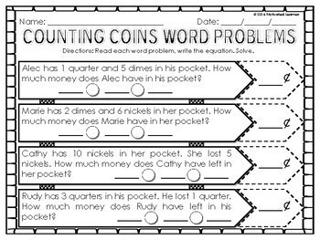 Money, Coins, Counting Coins, Quarters, Nickels, Dimes, Penny