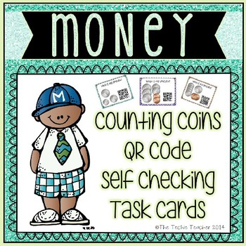 Counting Money QR Code Task Cards
