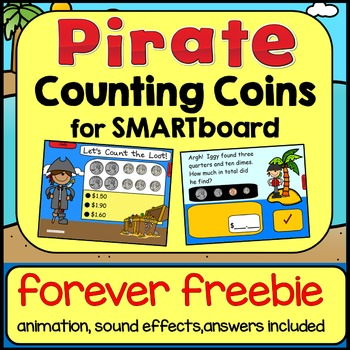 Money:  Counting Coins for SMARTboard (Pirate Theme) FREEBIE
