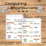 Money Counting Coins  greater than less than equal to