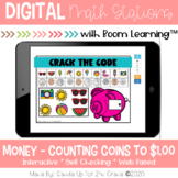 Money Counting Coins to $1.00 | Boom Cards™ | Distance Learning