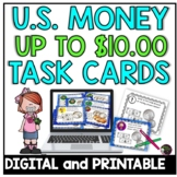 Counting U.S. Money up $10.00 Task Cards