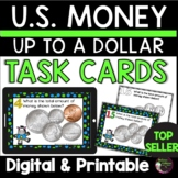 Counting Coins up to a U.S. Dollar Task Cards | Digital an