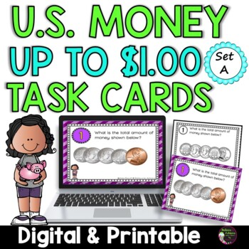Money- Counting U.S. Coins up to a Dollar