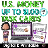 Money- Counting U.S. Coins up to a Dollar- Set A