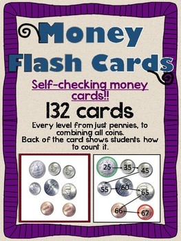 Money Counting Flashcards (Self Checking)