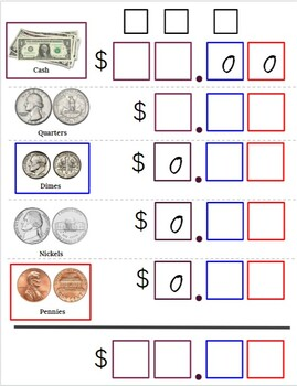 Money Counting Mat (Visual and Error-Proof!)