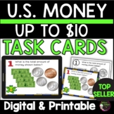 Counting Money up  U.S. $10.00 Task cards: FREE!❤TPT Featured Resource❤