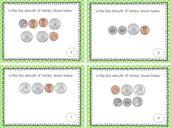 Money - Counting Money using coins and bills worth one and five dollars