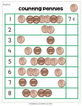 Counting Money: Counting Quarters, Dimes, Nickels, and Pennies