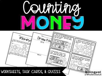 Money (Counting, Representing, Exchanging, & Making Change) TEK 3.4C; 2.MD.C.8
