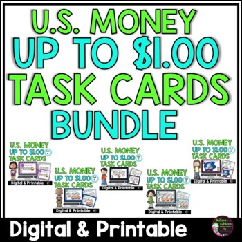Money- Counting U.S. Coins up to a Dollar BUNDLE!