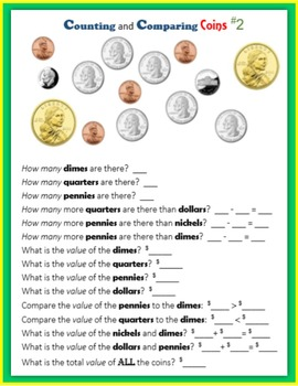 Money:  Counting and Comparing Coins