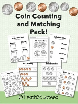 Money Counting and Matching NO PREP Pack