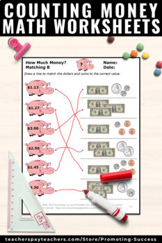 Counting Money Worksheets for 2nd Grade 3rd Grade Math Review Dollars and Cents