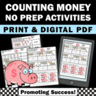 Money Worksheets & Activities 2nd 3rd Grade Math No Prep P