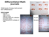Money - DIFFERENTIATED Math Journal Prompts