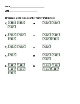 Money- Determine Greater Amount