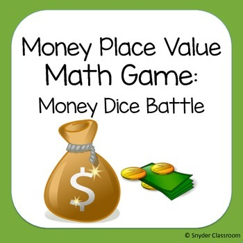 Money Place Value Math Game