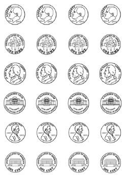 Money Dice Labels - Pennies, Nickels, Dimes